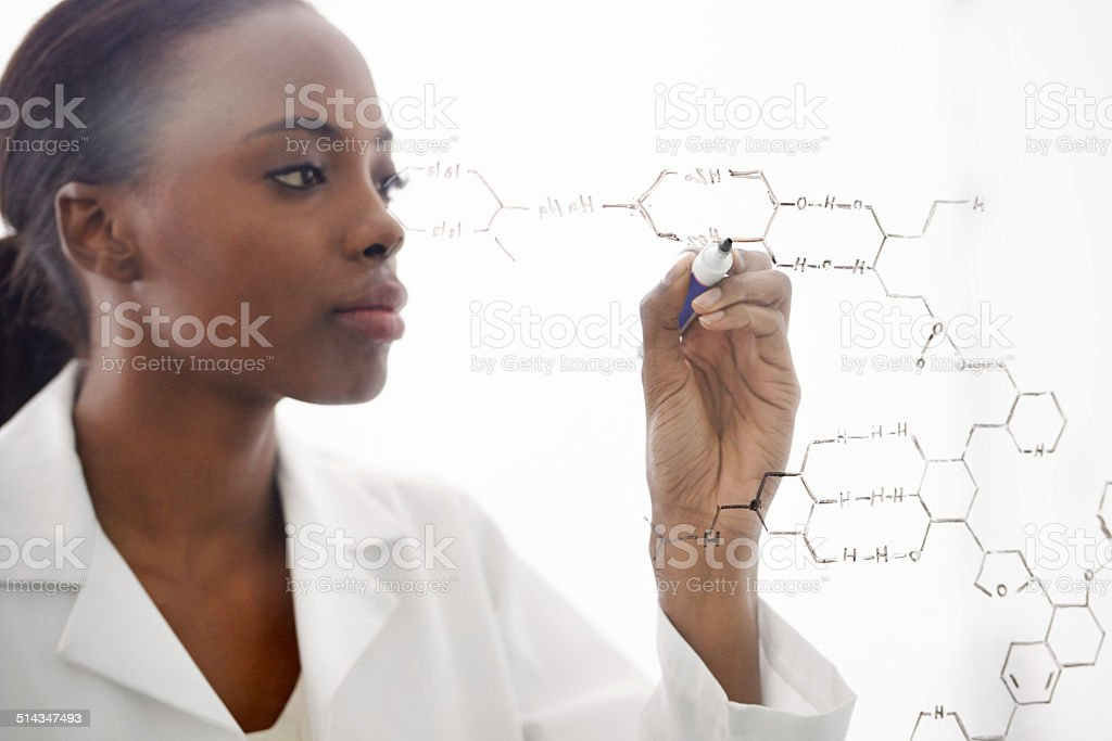 The world of molecules stock photo