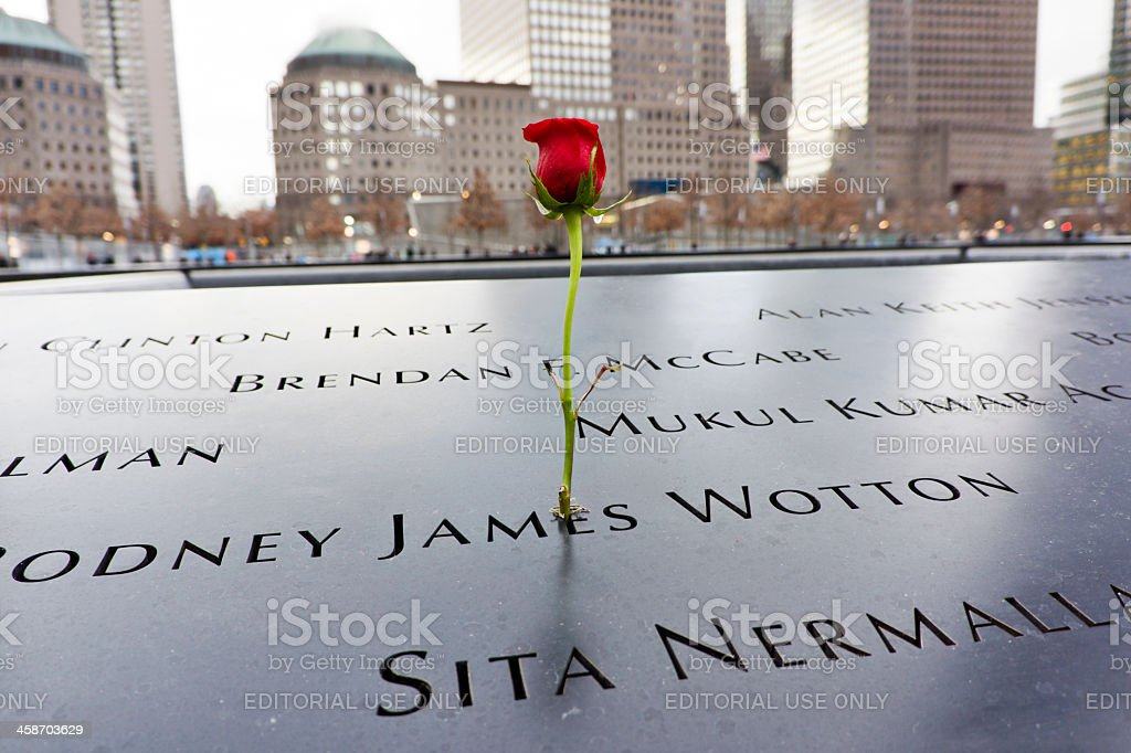 The World Trade Center memorial in New York stock photo