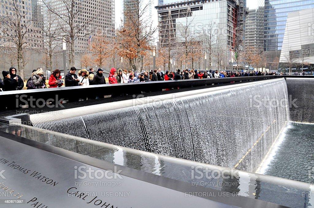 The World Trade Centre Memorial Site 1 stock photo