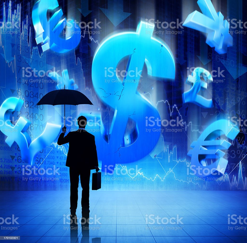 The World's Financial Crisis royalty-free stock photo