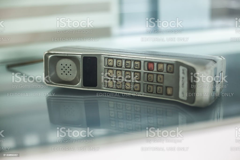 The World's First Mobile Phone stock photo