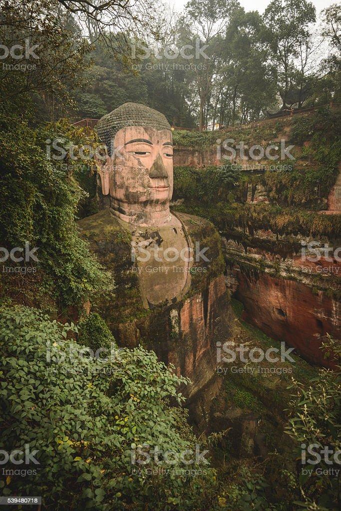 The worlds largest stone buddha stock photo