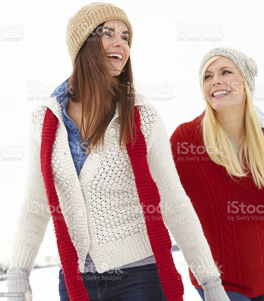 The world's not so cold when we're together royalty-free stock photo