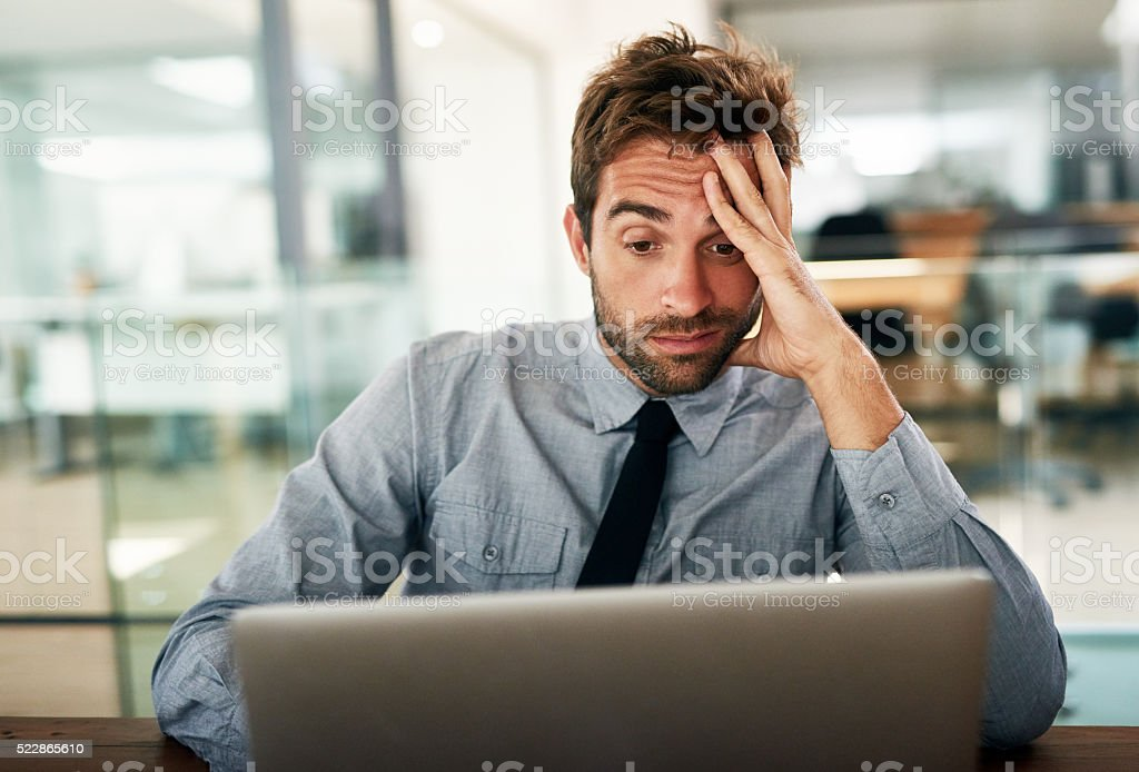 The worst has happened stock photo