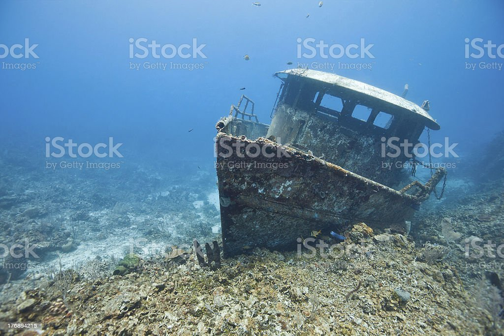 The wreck of the Mr. Bud stock photo