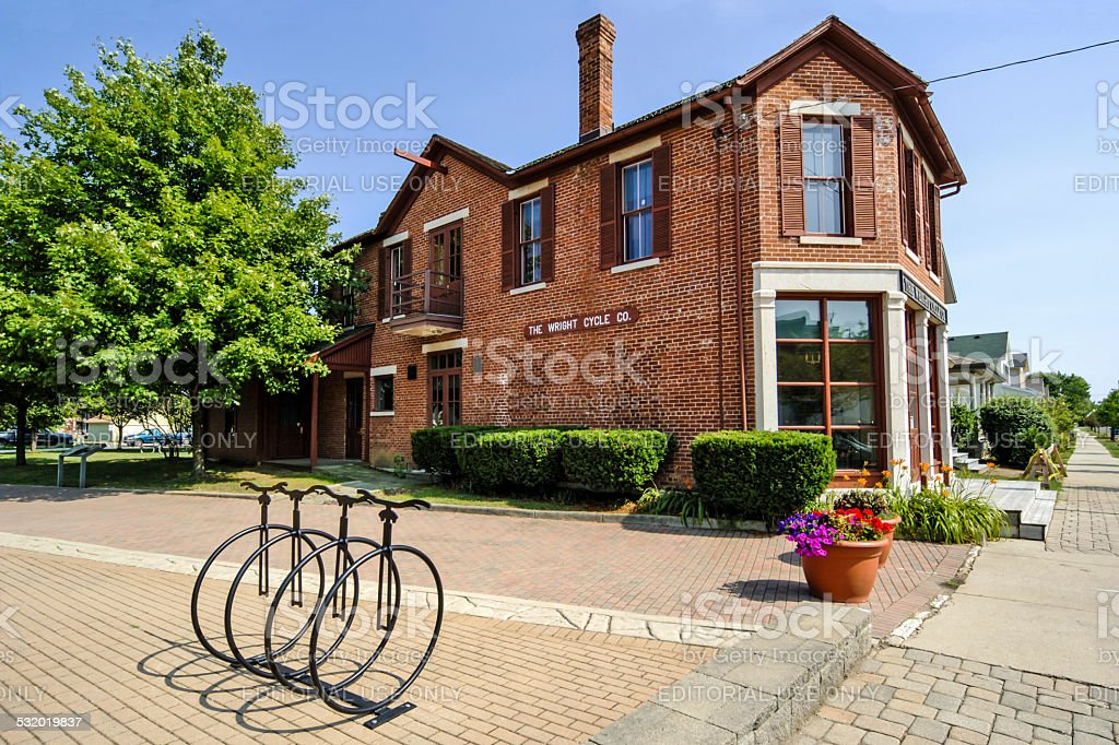 The Wright Brothers Cycle shop in Dayton Ohio stock photo