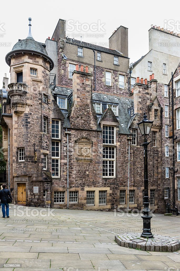 The Writers' Museum in Edinburgh, Scotland stock photo