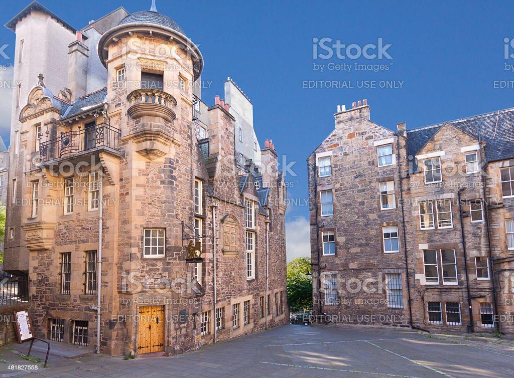 The Writers Museum, Royal Mile, Edinburgh, United Kingdom. stock photo