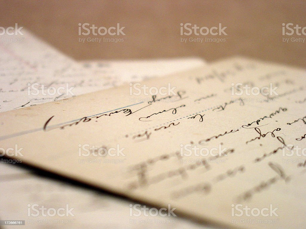 the written word royalty-free stock photo