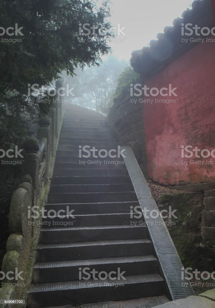 The Wudang Mountains,Hubei China. Many Taoist monasteries to be found there, stock photo