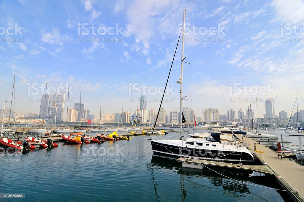 The yacht dock stock photo