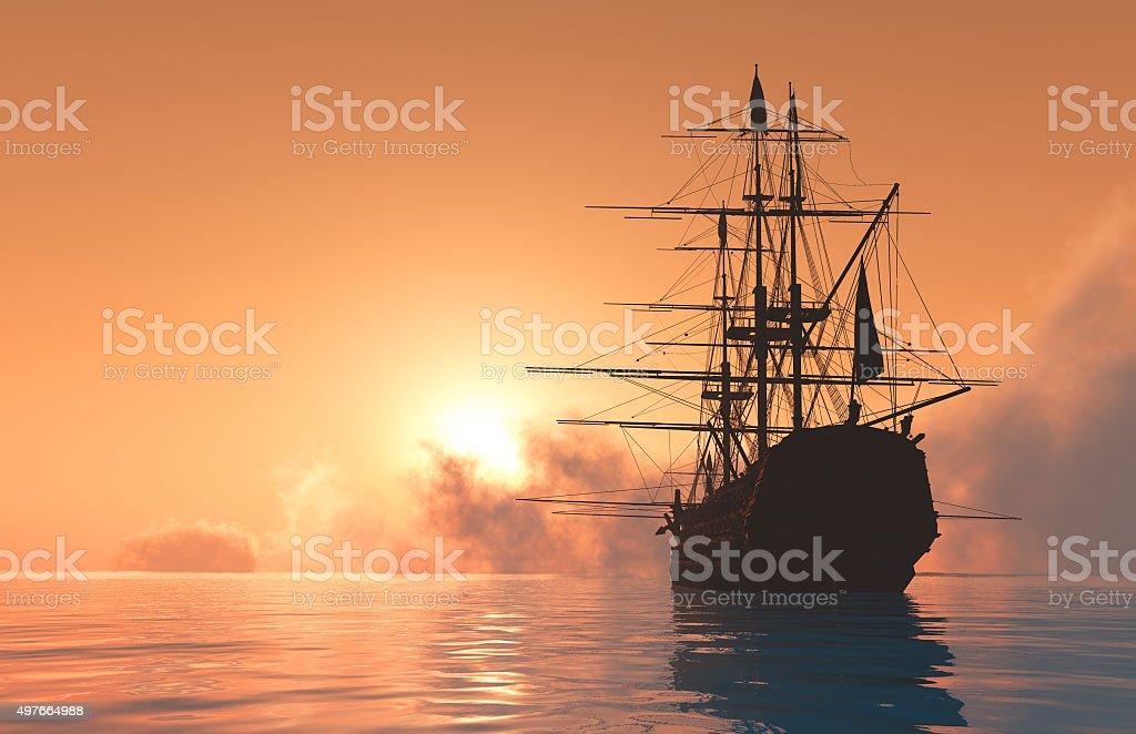 The yacht stock photo