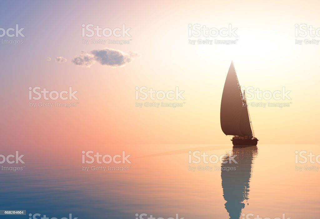 The yacht stock photo