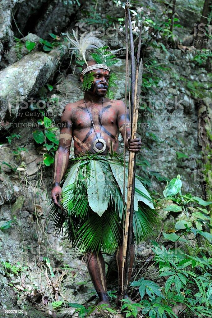 The Yafi warrior stock photo