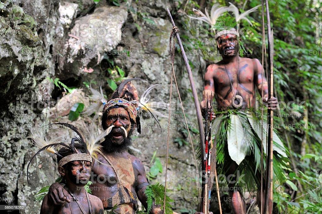 The Yafi warriors stock photo
