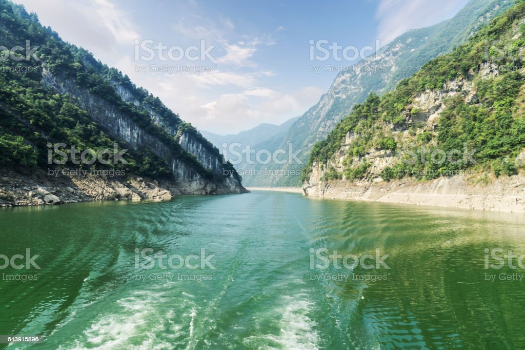 The Yangtze river in hubei province in China stock photo