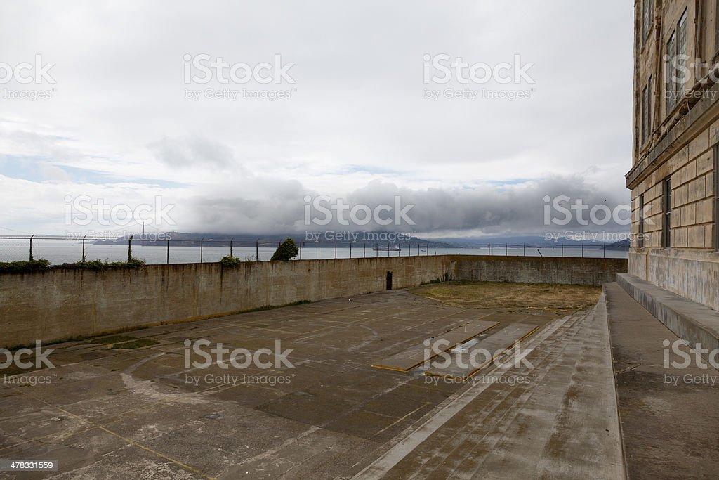 The Yard on Alcatraz royalty-free stock photo