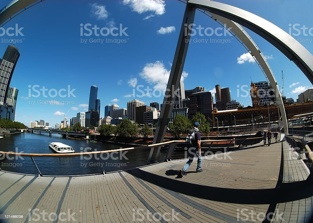 The Yarra River stock photo