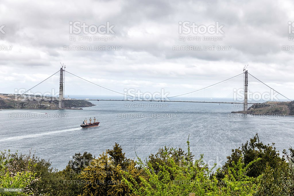 The Yavuz Sultan Selim Bridge, the Third Bosphorus Bridge stock photo