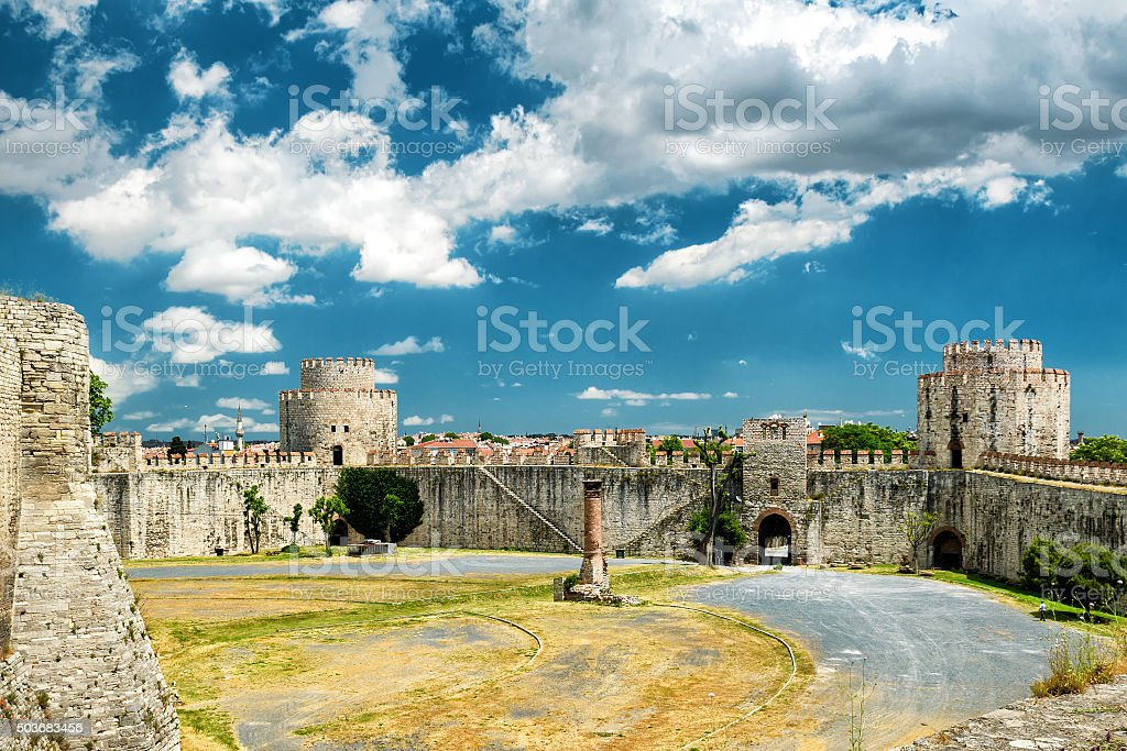 The Yedikule Fortress in Istanbul stock photo