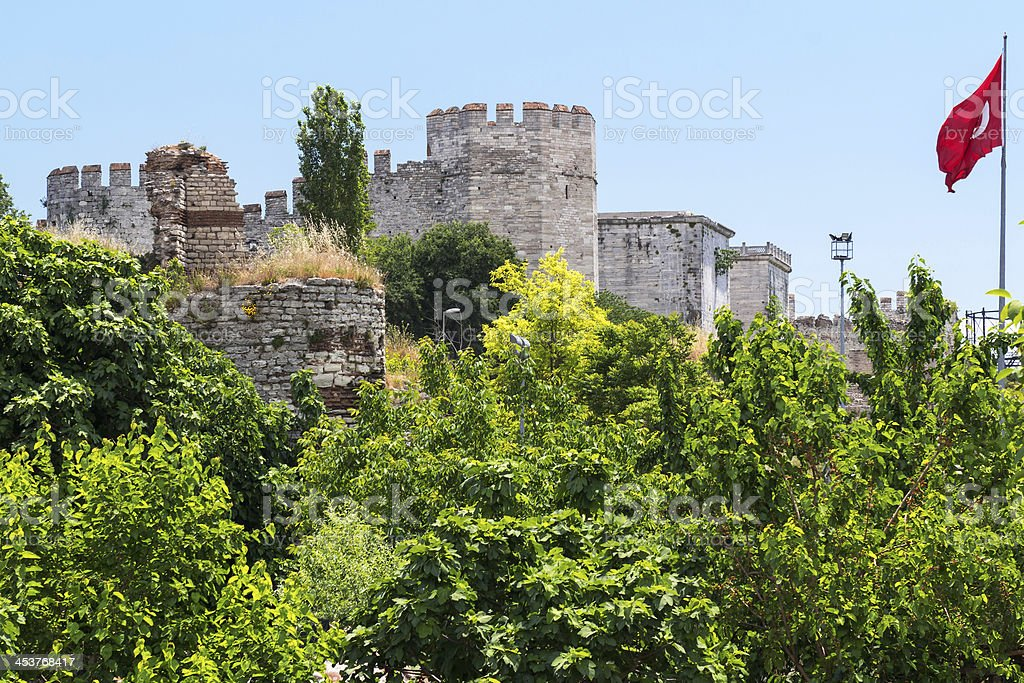 The Yedikule Fortress in Istanbul, Turkey stock photo