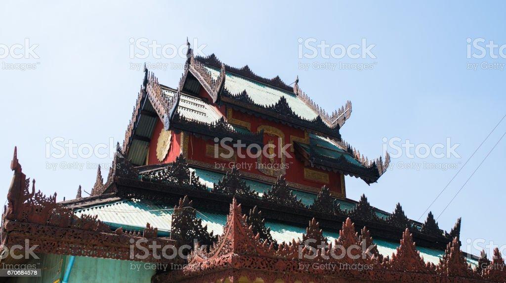 The Yele Paya Pagoda, Thanlyin, Myanmar stock photo