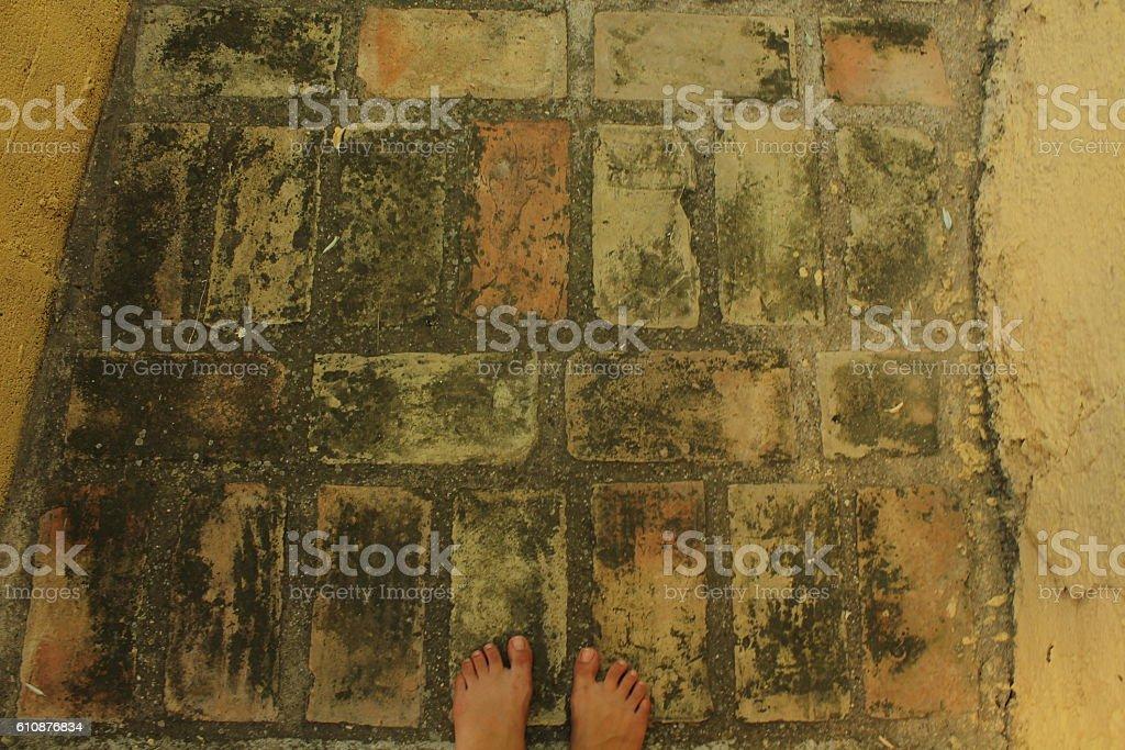 The Yellow Brick Road stock photo