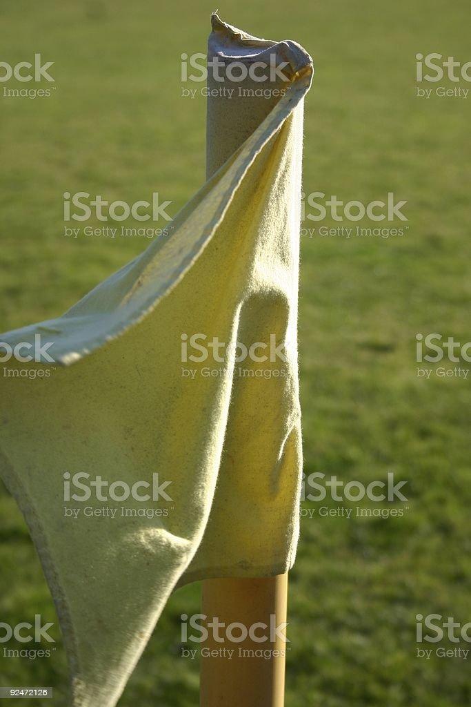 The yellow flag stock photo
