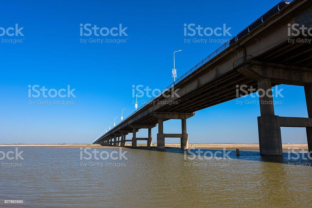 The Yellow River Bridge stock photo