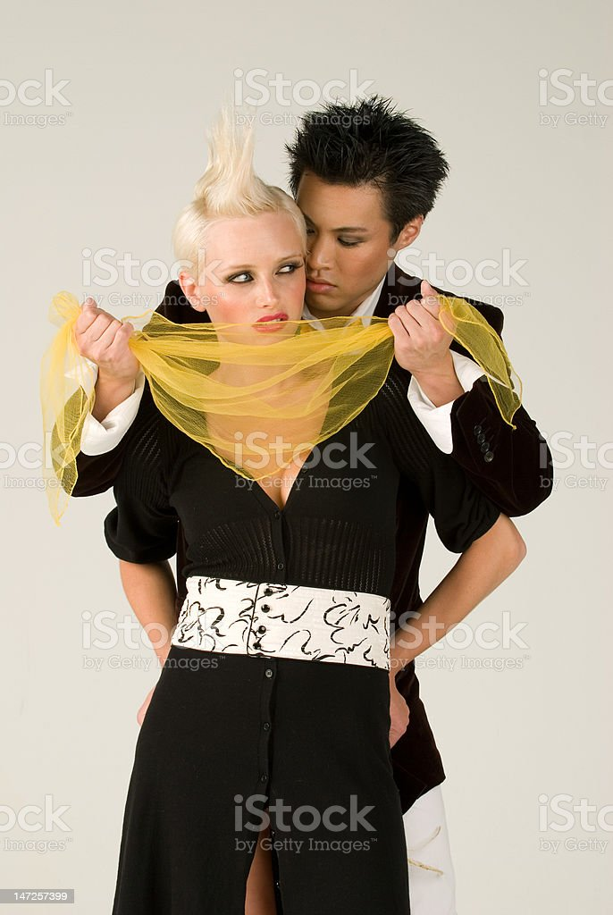 The Yellow Scarf royalty-free stock photo