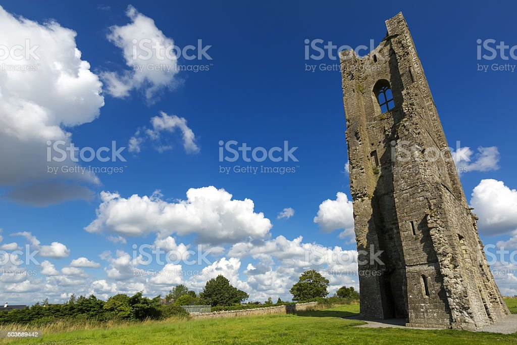 The Yellow Steeple of the Abbey of St. Mary stock photo