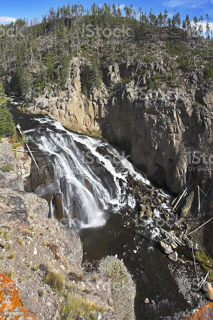 The Yellowstone national park in autumn stock photo