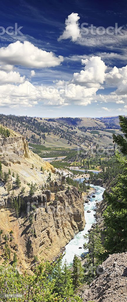 The Yellowstone River royalty-free stock photo