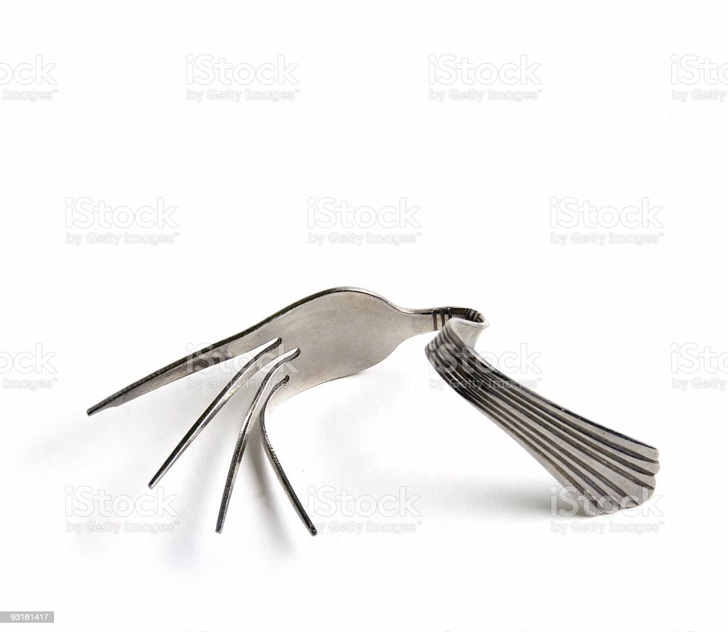 The Yoga Fork royalty-free stock photo