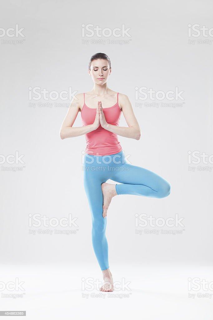 the yoga woman royalty-free stock photo