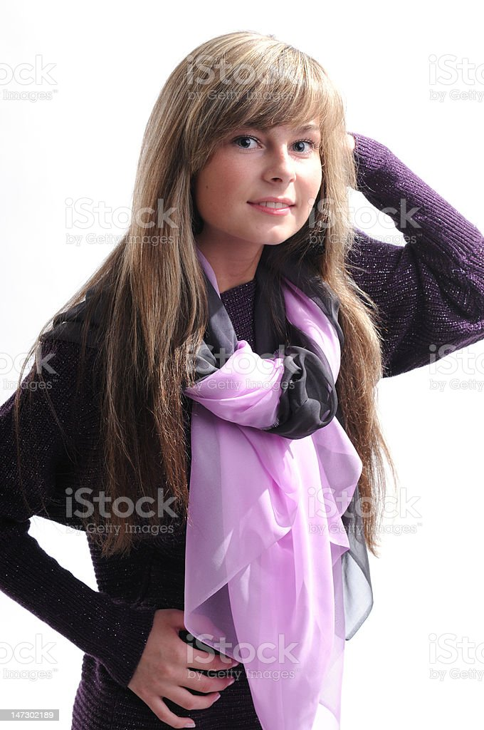The young beautiful girl royalty-free stock photo