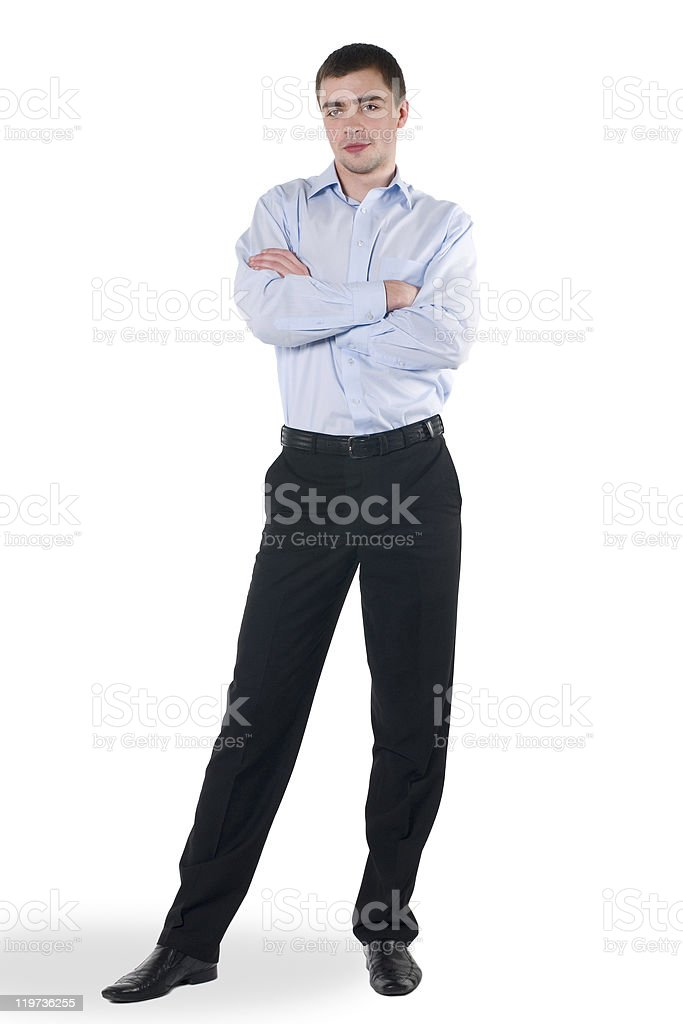The young employee stock photo