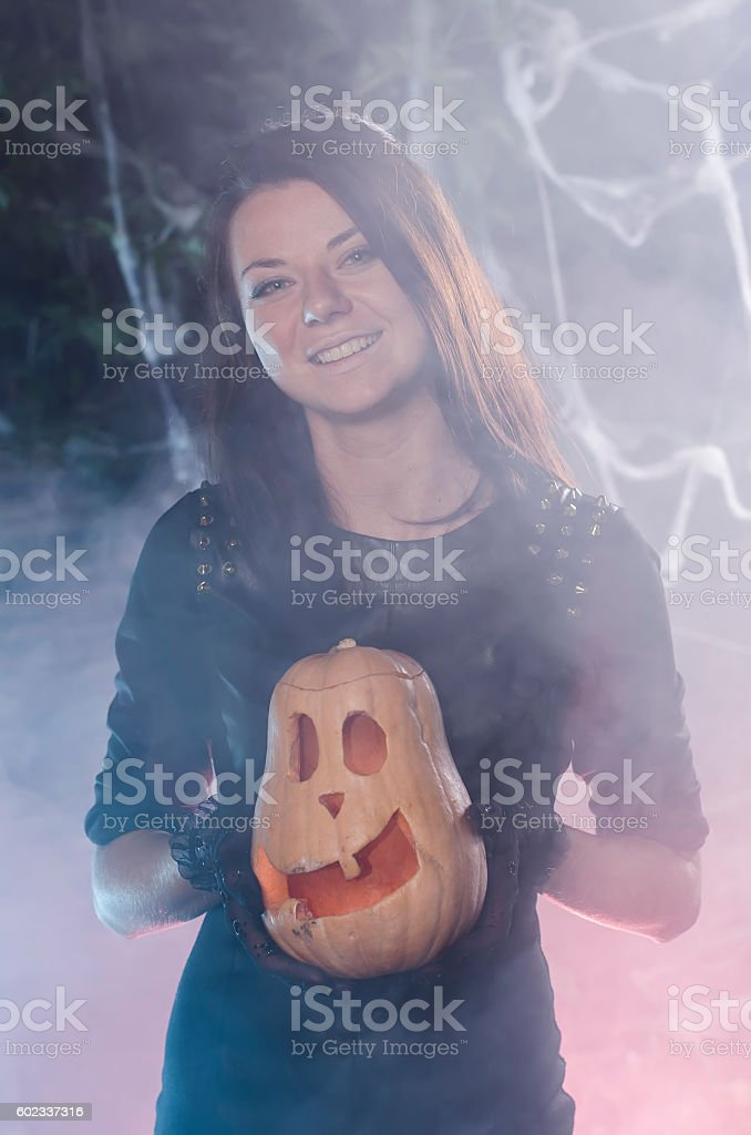 the young girl with a lamp of dzhek stock photo