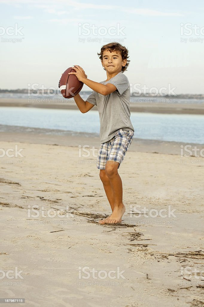 The Young Quarterback stock photo