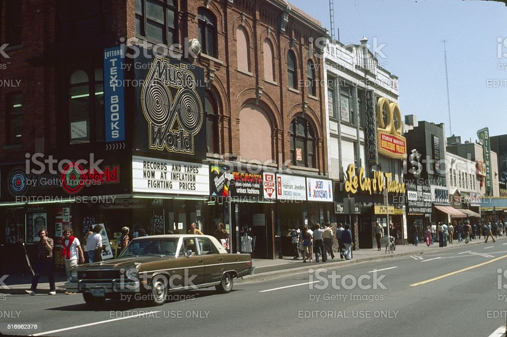 The 'Young Street' in Toronto, 1978 stock photo
