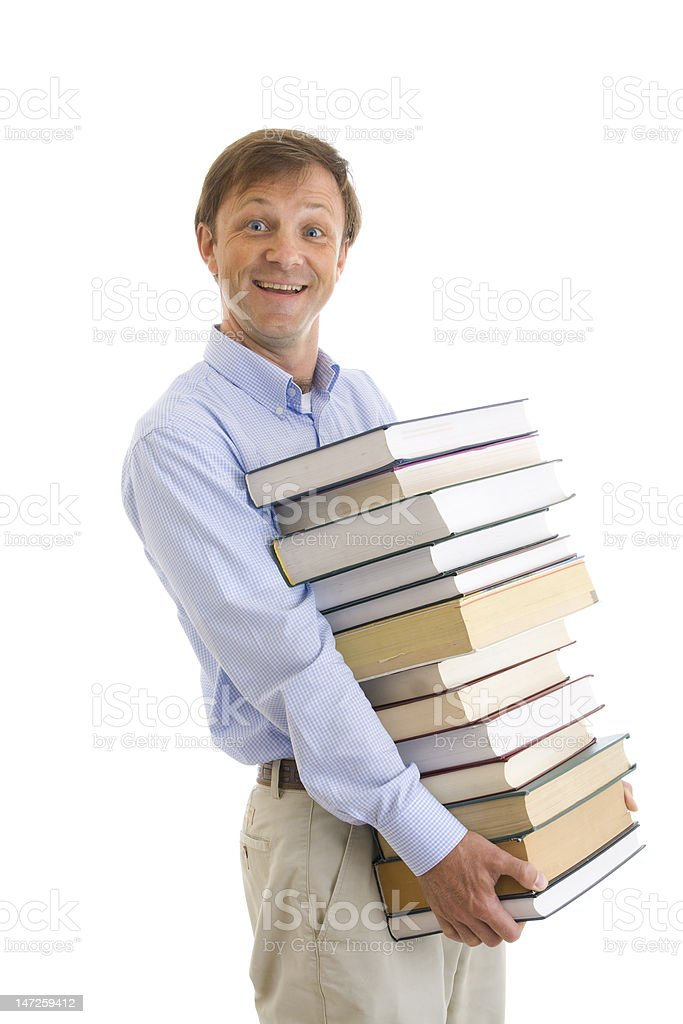 The young student with books royalty-free stock photo