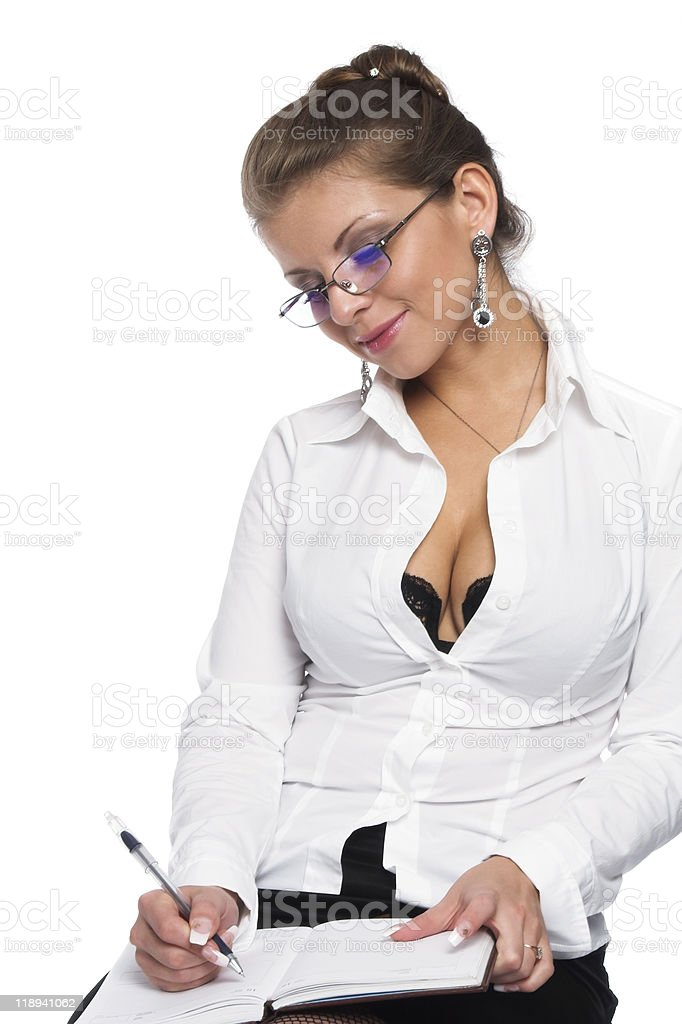 The young woman manager royalty-free stock photo
