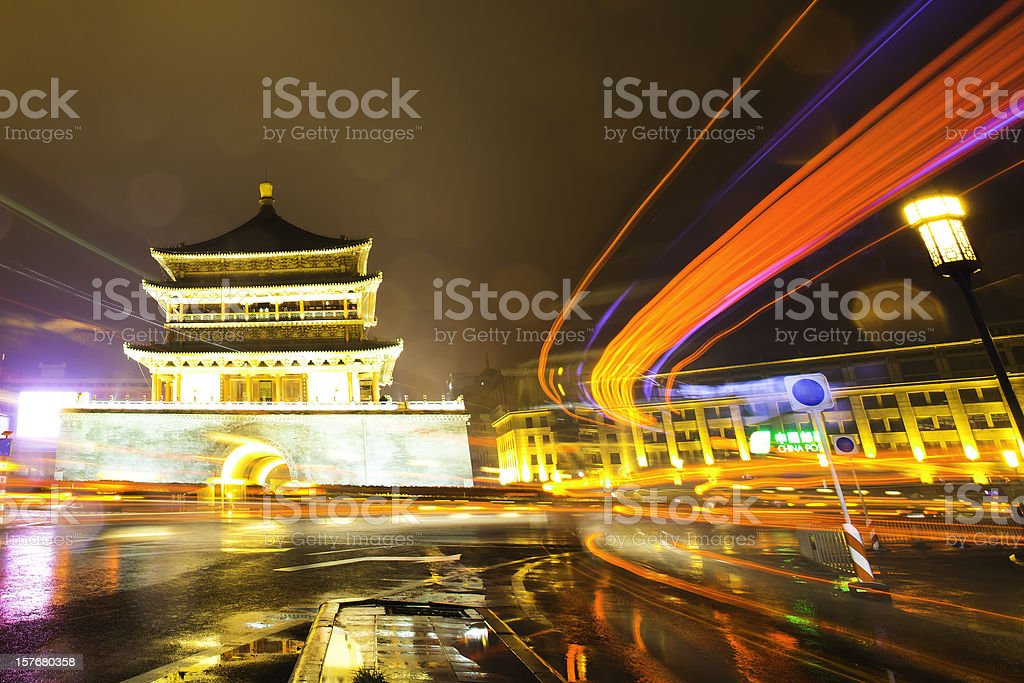 The Zhong Lou,xi'an royalty-free stock photo