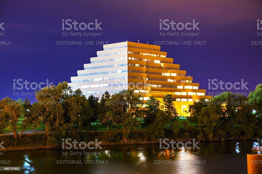 The Ziggurat office buiding in Sacramento stock photo