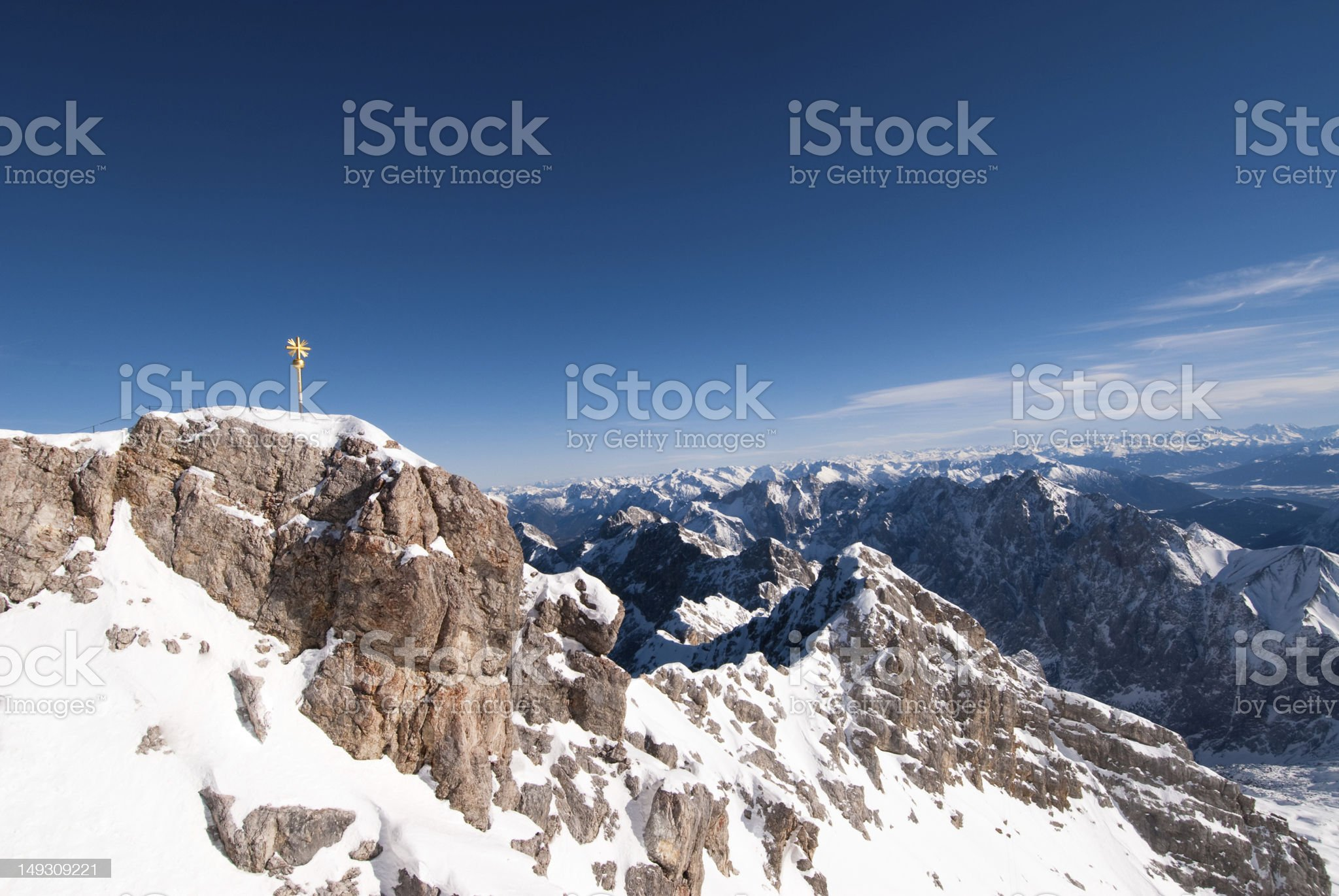 The Zugspitze, Germany royalty-free stock photo