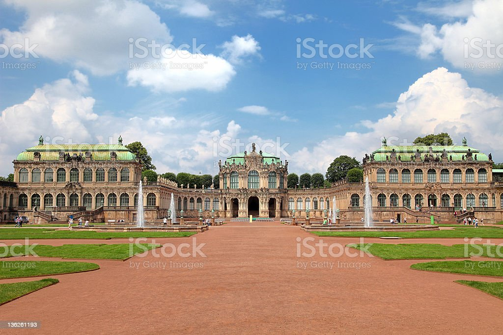 The Zwinger, Dresden, Germany stock photo
