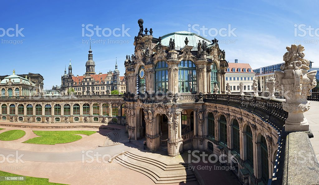 The Zwinger, Dresden stock photo