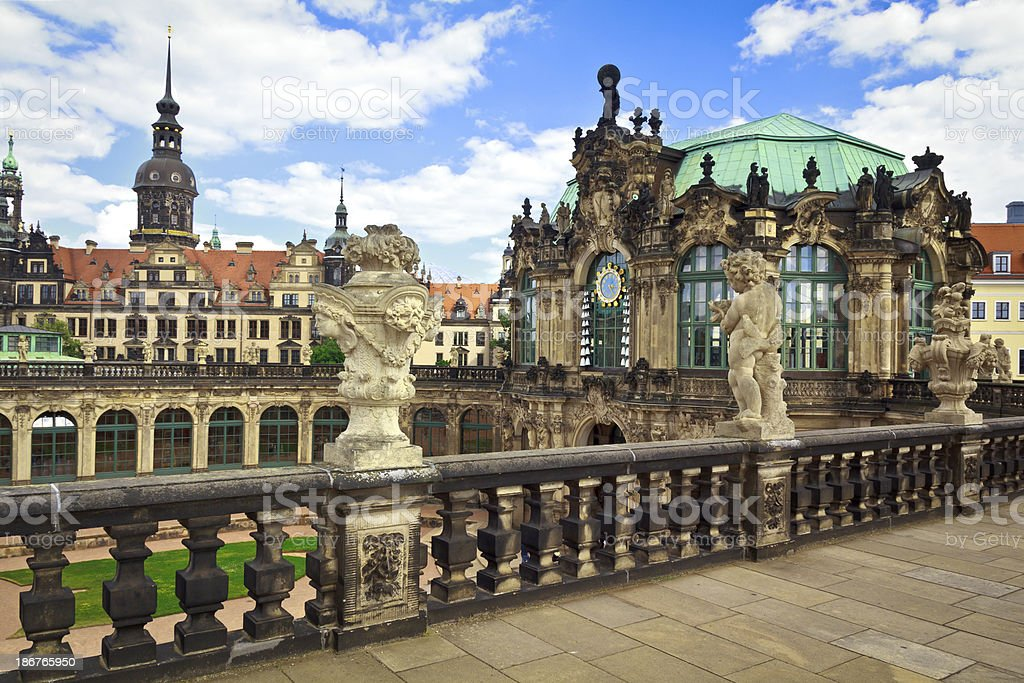 The Zwinger in Dresden stock photo
