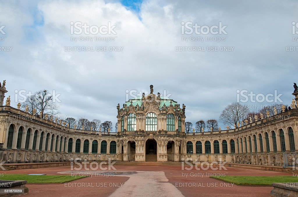 The Zwinger is a palace built in Rococo style, Dresden stock photo