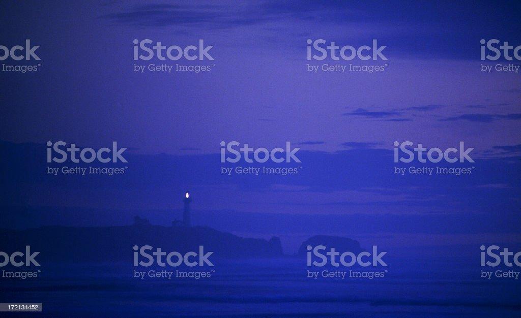 the_dusk_lighthouse royalty-free stock photo
